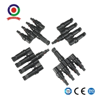 Solar Panel Cables and Connectors kit 4 to 1 Solar Panel T Branch Connectors