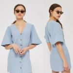 China High Quality Wholesale Breathable Soft Loose Casual Shirt Dress Cotton for sale