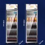 China Drink Display Refrigerator Supermarket Single Door Vertical Beverage Cooler for sale