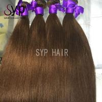 European Virgin Russian Dark Brown Ombre Hair Extensions Extra Long Double Weft for sale