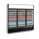 China 1030L upright three door defrost direct cooling display beverage cooler/display cooler/display fridge/beverage showcase for sale