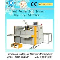 High Speed Semi Automatic Carton Folding and Stitching Machine 400nails/min for sale