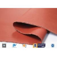 China 260℃ Silicone Coated Fiberglass Fabric / Red Non Toxic Fire Barrier Fabric supplier