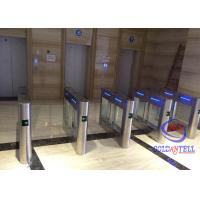 High Class Swing Barrier Gate Two Way Lanes Automatic Card Swipe For Amusement Park for sale