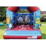 Commercial Children Inflatable Jumping Castles With Despicable Me Theme for sale