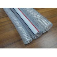 China PVC Braided Hose / Food Grade Transparent Fiber Reinforced Braided Net Pipe Tubing for sale