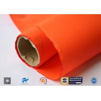 China 0.2mm Orange Acrylic Coated Fiberglass Cloth High Temperature Resistant supplier