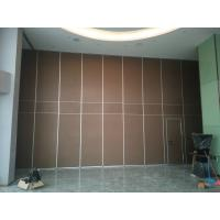 Interior Wooden Design Acoustic Partition Wall Sliding Doors For Auditorium / Banquet Hall for sale