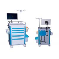 China Medical Mobile Adjustable Laptop Computer Cart Emergency Cart Laptop Cart Five Drawers (ALS-WT08) for sale