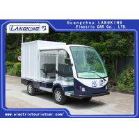 China Balck Seats Electric Freight Car / Electric Truck Van Max.Speed 28km/H for sale