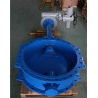 China Pneumatic Actuated Double Flange Wafer Type Butterfly Valve , Durable Air Operated Butterfly Valve supplier