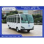 China Four Wheels Electric Shuttle Bus 23 Seats With Door / Electric Mini Bus AC Motor for sale