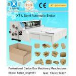 Semi Auto Carton Folding Machine , Chain Feeder Corrugated Carton Slotter 3kw for sale
