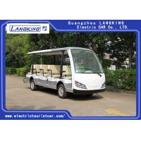 China Small Electric Shuttle Car , 14 People Electric Sightseeing Bus Max.Speed 28 km/h for sale