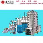 Large size Titanium Coating Machine,  Cathodic Multi Arc PVD Plating for sale