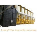 China Recirculating Corn Batch Dryers , 15 Ton Per Batch Paddy Grain Dryer With One Furnace for sale