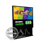Brightness 450 Nit Wall Mount LCD Display Mobile Phone Charging Station Advertising Player for sale