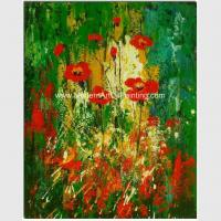 China Colorful Abstract Floral Painting  Hand - Painted With Texture Customized Size Or Color for sale