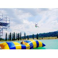 Crazy Inflatable Water Trampolines / Inflatable Water Pillow For Jumping for sale
