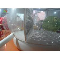 China Customized 3 M Christmas Decoration People Inside Inflatable Snow Balls Clear Ball For Advertising supplier