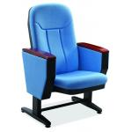 China Movable Foot Fold Up Fabric Auditorium Chairs With PP Back / Church Hall Chair for sale