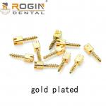 China Dental Screw Post 2019 Rogin Medical Golden Plated Screw Post With CE / ISO /FDA Certificate For Dentist for sale