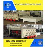 China Manual Feeding Carton Making Machine / Paper Carton Printing Machine Witn Slotting Function for sale