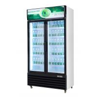 Upright glass door beverage display cooler with static cooling cheap price