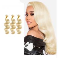 613 Blonde Hair Malaysian Body Wave Bundles / Natural Wave Hair Extensions for sale