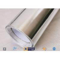 China Light / Heat Reflective 300℃ Aluminium Foil Fiberglass Fabric For Pipe Insulation for sale