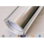 Light / Heat Reflective 300℃ Aluminium Foil Fiberglass Fabric For Pipe Insulation for sale