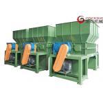 China Metal Containers Plastic Waste Shredder , Twin Shaft Shredder Hydraulic Feeding for sale