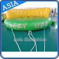 5 Person Water Ski Tube Inflatable Boats Crazy UFO Shaped 0.9mm PVC Tarpaulin for sale
