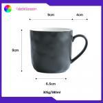 China Matte Glazed Unique Custom Embossed Mugs 9cm*9cm For Home Office for sale