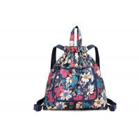 China Full Printing Foldable Custom Made Drawstring Bags With Adjustable Strap For School for sale