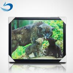 Custom Bear Design 3D Lenticular Picture , 3D Flip Picture Decration for sale