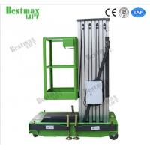 Portable Aluminum Aerial Work Platform Single Mast Man Lift 8 Meters Lifting Height for sale