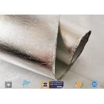 Industrial Hose Silver Coated Fabric Heat Sealing Aluminium Foil Coating for sale