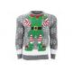 China Mens Novelty Elf Ugly Christmas Sweater Standard Wool Soft And Warm Hand Feeling for sale