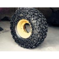 China Alloy Wheel Loader Spare Parts / Wheel Loader Tire Chains 23.5-25 / 255KG Light Type for sale
