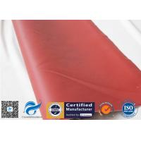 China Red 0.45mm 580g Silicone Coated Fiberglass Fabric For Thermal Insulation Jacket for sale