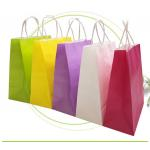 Strong Sealing Matt Kraft Paper Bags Large Size Customized Print Accepted for sale