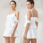 China Hot Sale Fashion Womens Floral Sex Linen Slip Mini Dress for sale