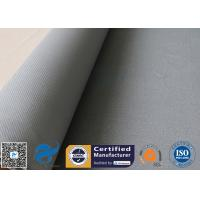 China 1600GSM 1.2MM Gray Silicone Coated Fiberglass Fabric For Flexible Joints for sale
