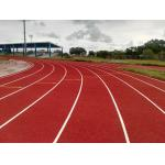Stadium Rubber Running Track Material With EPDM Granules Surface 13 Mm Thickness for sale