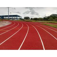 China Stadium Rubber Running Track Material With EPDM Granules Surface 13 Mm Thickness supplier