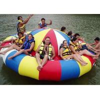 8 - 10 Person Inflatable Disco Boat Motorized Toys Semi Boat , Water Spinner Gyro for sale