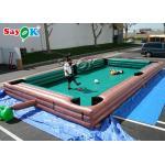 Big Human Inflatable Sports Games Snooker Pool Table Logo Printing for sale