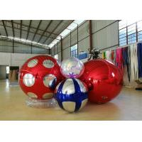 Stage Customized Advertising Fireproof Inflatable Mirror Ball For Christmas Decoration for sale