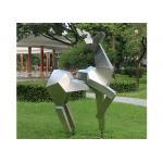 Animal Statue Stainless Steel Metal Sculpture Garden Abstract Deer Sculpture for sale